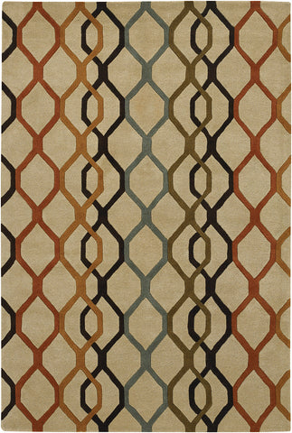 Rowe Collection Hand-Tufted Area Rug in Beige