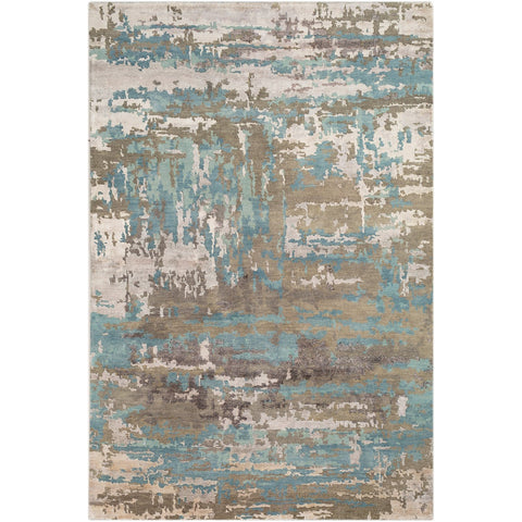 Arte RTE-2301 Hand Knotted Rug in Sage & Teal by Surya