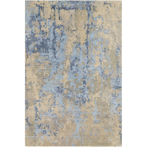 Arte RTE-2302 Hand Knotted Rug in Navy & Khaki by Surya
