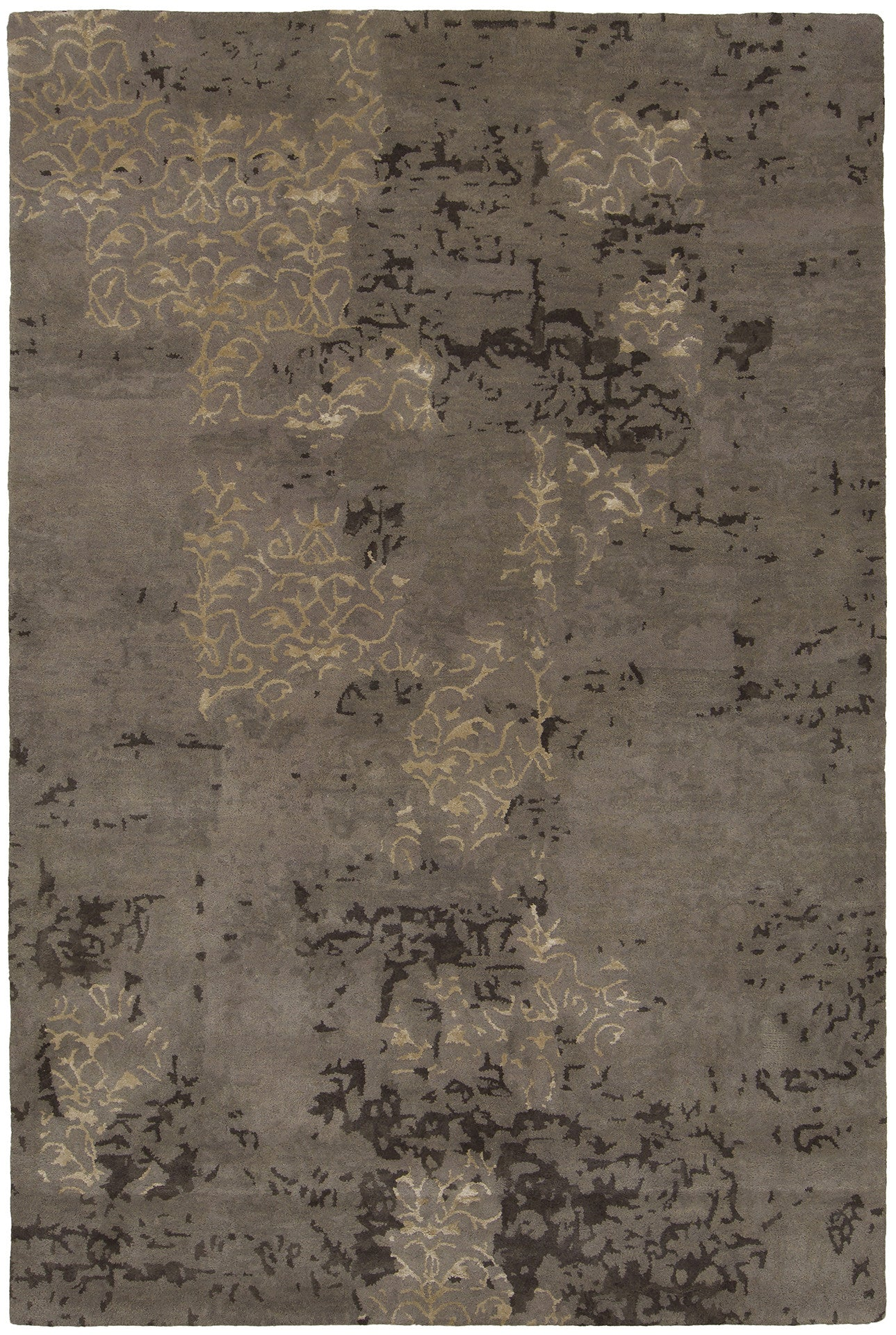 Rupec Collection Hand Tufted Area Rug In Taupe Brown