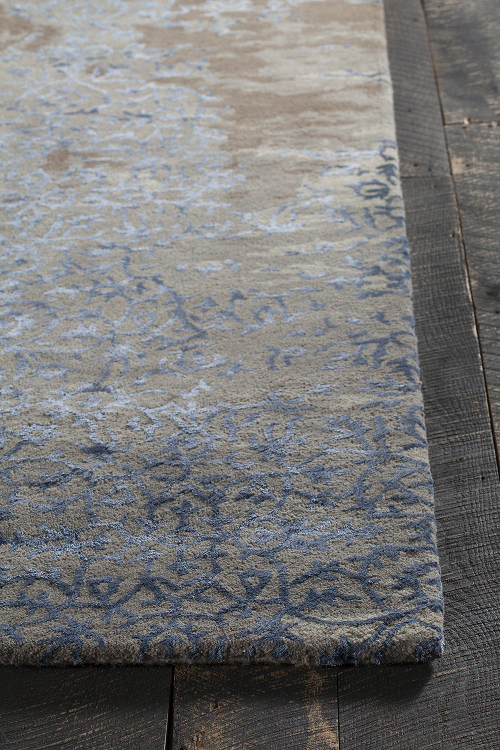 Rupec Collection Hand Tufted Area Rug In Grey, Blue, U0026 Brown Design By  Chandra Rugs