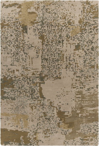 Rupec Collection Hand-Tufted Area Rug in Beige & Green design by Chandra rugs