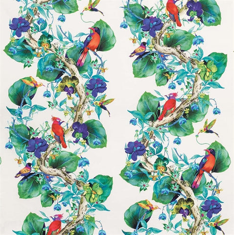 Rain Forest Fabric in Multi from the Enchanted Gardens Collection by Osborne & Little