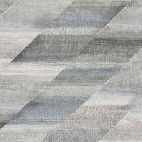Rainbow Diagonals Wallpaper in Cinder Grey and Slate from the Boho Rhapsody Collection by Seabrook Wallcoverings