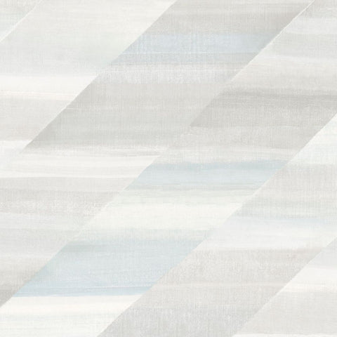 Rainbow Diagonals Wallpaper in Daydream Grey and Blue Oasis from the Boho Rhapsody Collection by Seabrook Wallcoverings