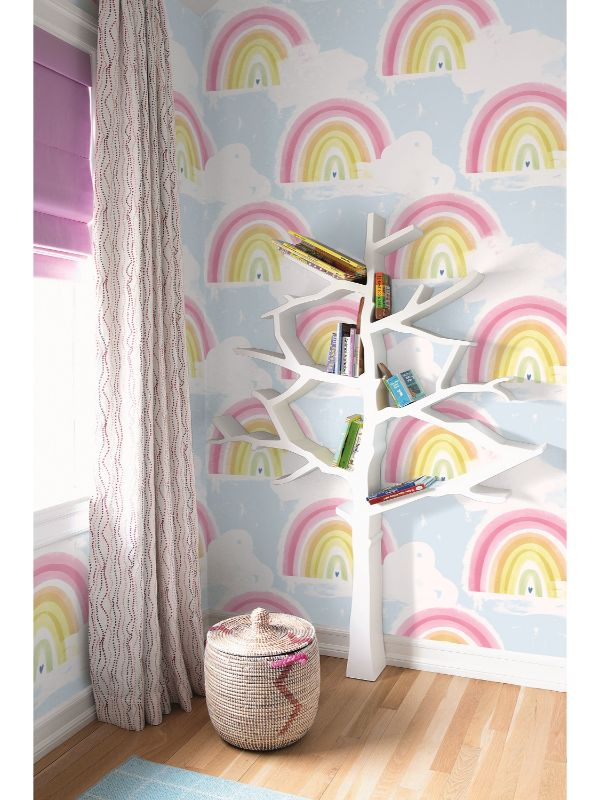 Rainbows Wallpaper from the Day Dreamers Collection by Seabrook Wallcoverings