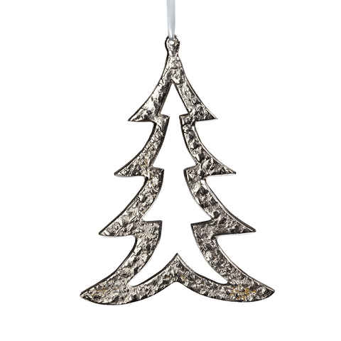Raw Aluminum Nickel Christmas Tree Ornament