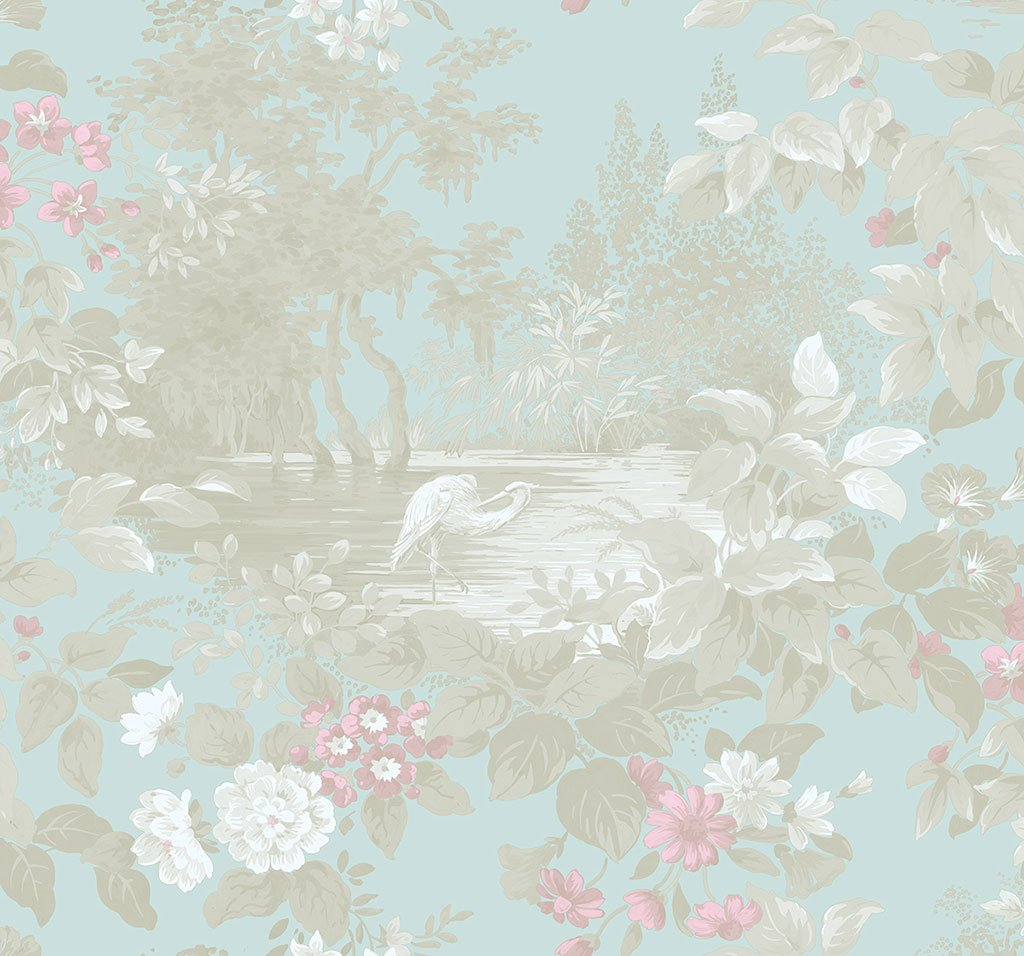 Sample Reflective Pool Wallpaper in Thunderbird from the Sanctuary Collection by Mayflower Wallpaper
