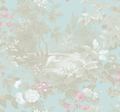 Reflective Pool Wallpaper in Thunderbird from the Sanctuary Collection by Mayflower Wallpaper