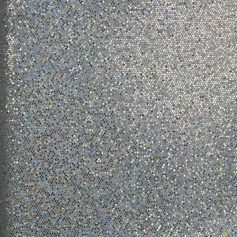 Reflective Silver Mini Sequins Wallpaper By Julian Scott