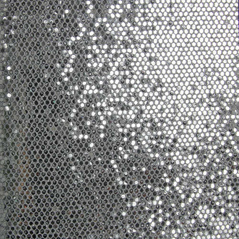 Reflective Silver Sequins Wallpaper by Julian Scott Designs