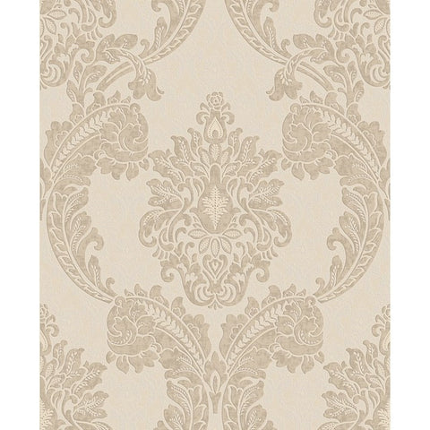 Regent Wallpaper in Neutral from the Palais Collection by Graham & Brown