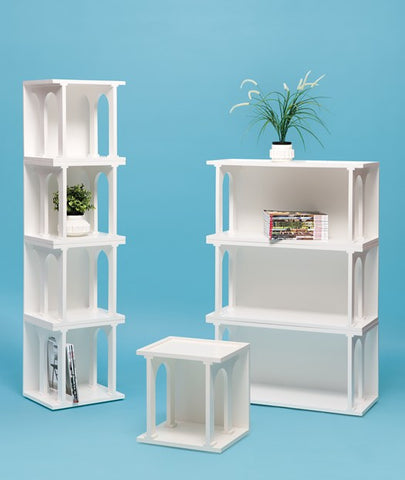 Renaissance Double White Bookcase Module design by Seletti