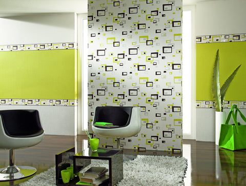 Retro Blocks Wallpaper design by BD Wall