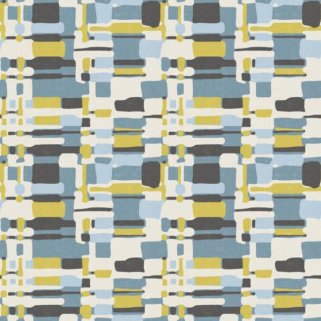Retro Plaid Peel Stick Wallpaper in Multi by RoomMates for York Wallcoverings c0f5dc3a 31d9 4f53 ae1b