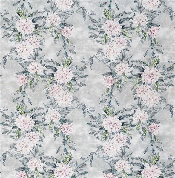 Rhodora Fabric in Soft Aubergine from the Enchanted Gardens Collection by Osborne & Little
