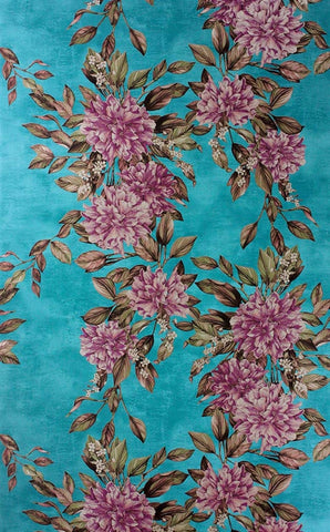 Rhodora Wallpaper in Plum/Sepia from the Enchanted Gardens Collection by Osborne & Little