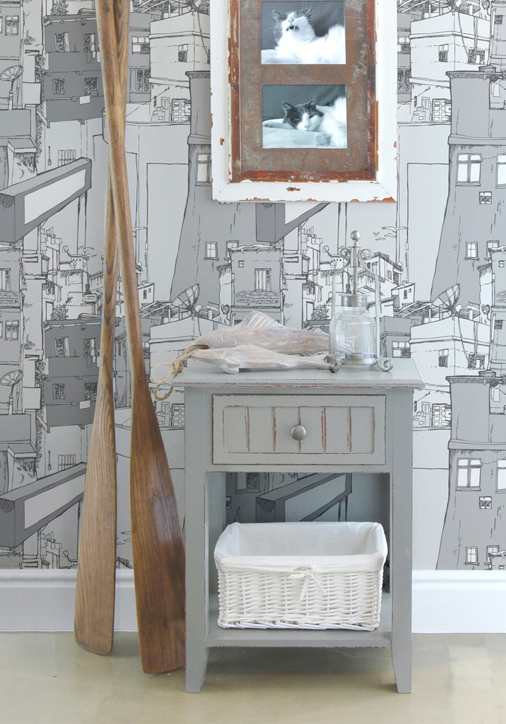 Rio Boutique Wallpaper in Grey by Milton & King