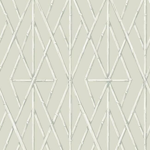 Riviera Bamboo Trellis Wallpaper in Sand from the Water's Edge Collection by York Wallcoverings