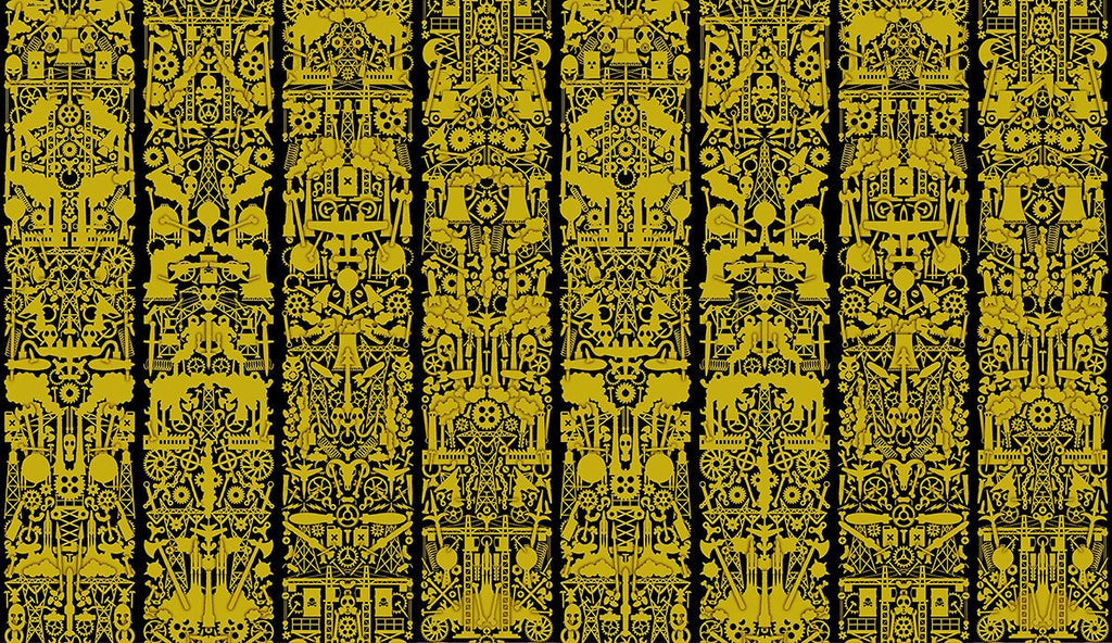 Robber Baron Wallpaper in Metallic Gold design by Studio Job for NLXL Lab