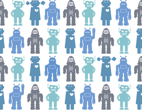 Robots Wallpaper in Sky design by Aimee Wilder