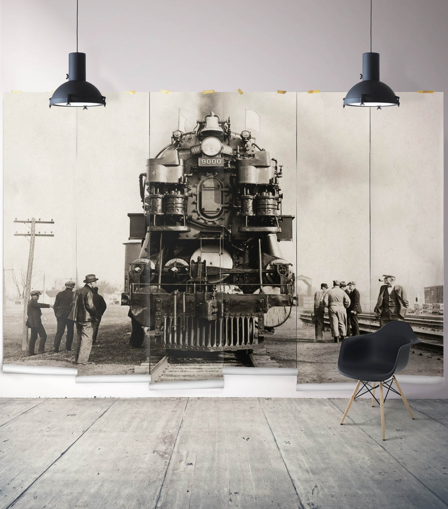 Sample Rock Island Line Wall Mural from the Erstwhile Collection by Milton & King