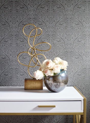 Romance Damask Wallpaper from the Candice Olson Journey Collection by York Wallcoverings