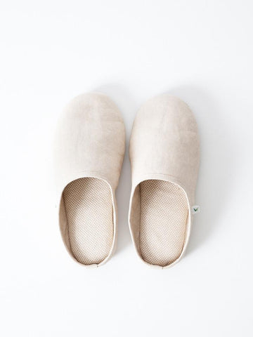 Sasawashi Room Shoes, Beige