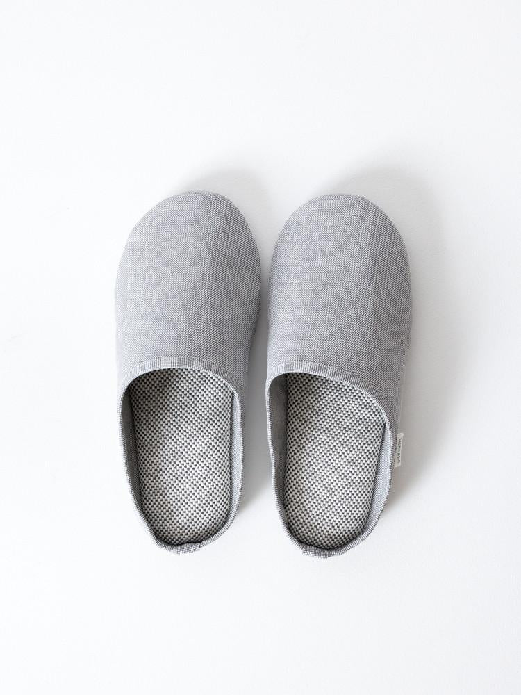 Sasawashi Room Shoes, Grey in Various Sizes