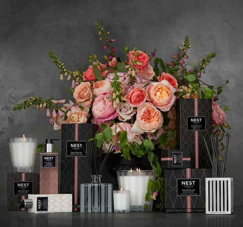 Rose Noir Reed Diffuser design by Nest Fragrances