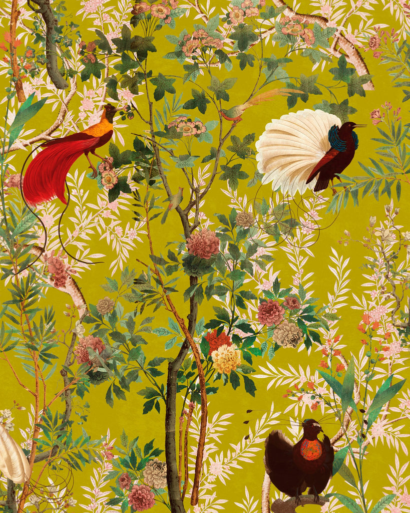 Sample Royal Garden Wallpaper in Green from the Wallpaper Compendium Collection by Mind the Gap