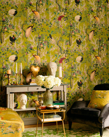 Royal Garden Wallpaper in Green from the Wallpaper Compendium Collection by Mind the Gap