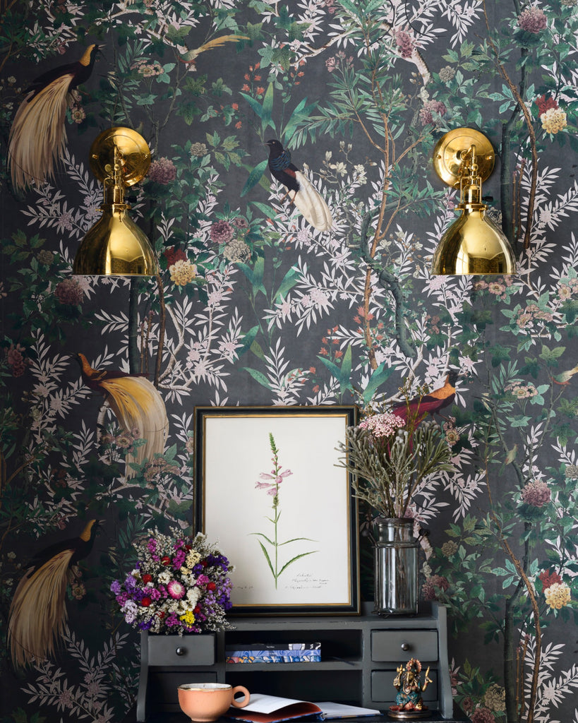Royal Garden Wallpaper in Grey from the Wallpaper Compendium Collection by Mind the Gap
