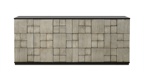 Rubik Entertainment Console in Tarnished Silver design by Redford House
