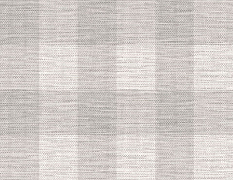 Rugby Gingham Wallpaper in Cove Grey from the Luxe Retreat Collection by Seabrook Wallcoverings