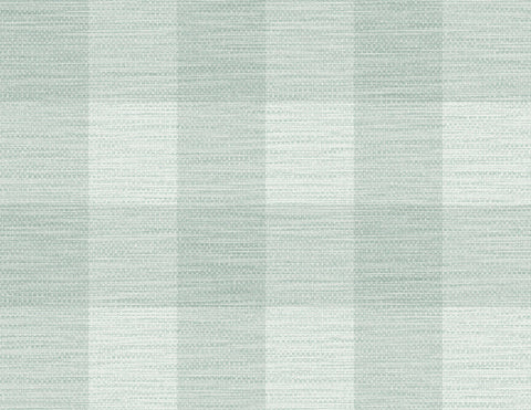 Rugby Gingham Wallpaper in Sea Glass from the Luxe Retreat Collection by Seabrook Wallcoverings