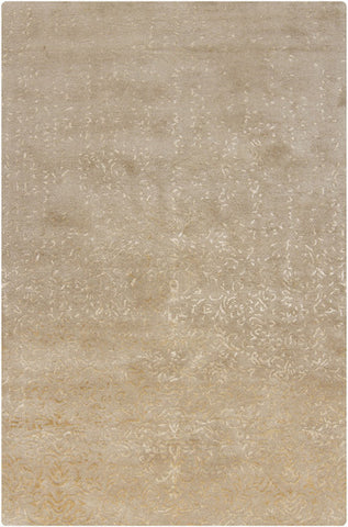 Rupec Collection Wool and Viscose Area Rug in Beige and Cream design by Chandra rugs