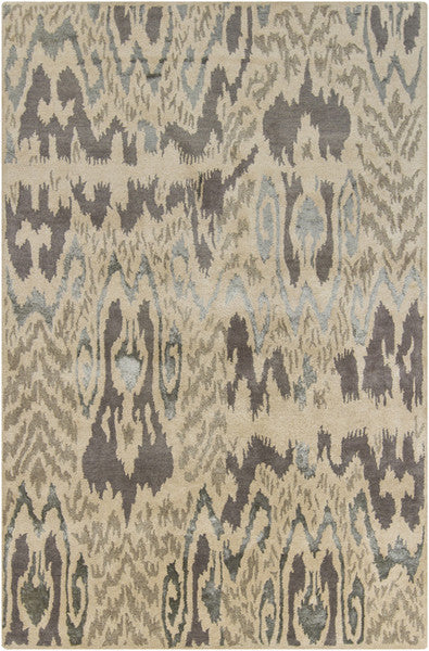 Rupec Collection Wool and Viscose Area Rug in Charcoal, Beige, and Grey design by Chandra rugs