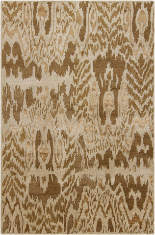 Rupec Collection Wool and Viscose Area Rug in Gold and Beige design by Chandra rugs