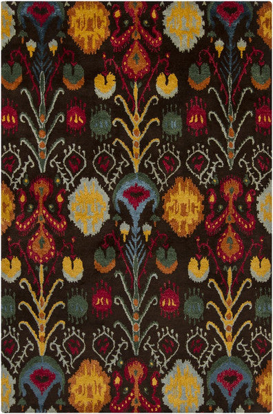 Rupec Collection Wool and Viscose Area Rug in Multi, Blue, and Orange design by Chandra rugs