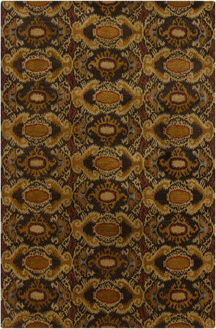 Rupec Collection Wool and Viscose Area Rug in Multi, Brown, and Gold design by Chandra rugs