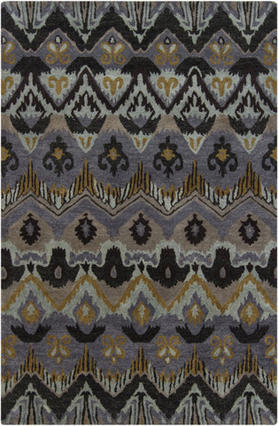 Rupec Collection Wool and Viscose Area Rug in Multi, Grey, and Gold design by Chandra rugs