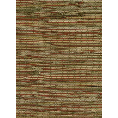 Rushcloth Grasscloth Wallpaper in Tan and Reds from the Natural Resource Collection by Seabrook Wallcoverings