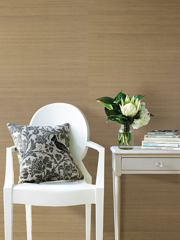 Ruslan Champagne Grasscloth Wallpaper from the Jade Collection by Brewster Home Fashions