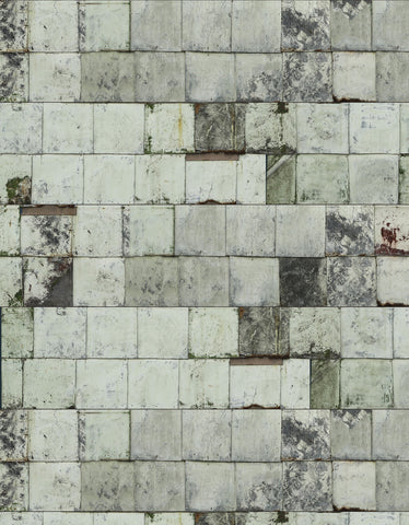 rusted metal wallpaper in white by piet hein eek for nlxl lab