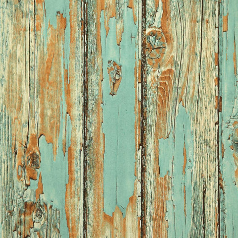 Rustic Planks Wallpaper in Aqua from the Precious Elements Collection by Burke Decor