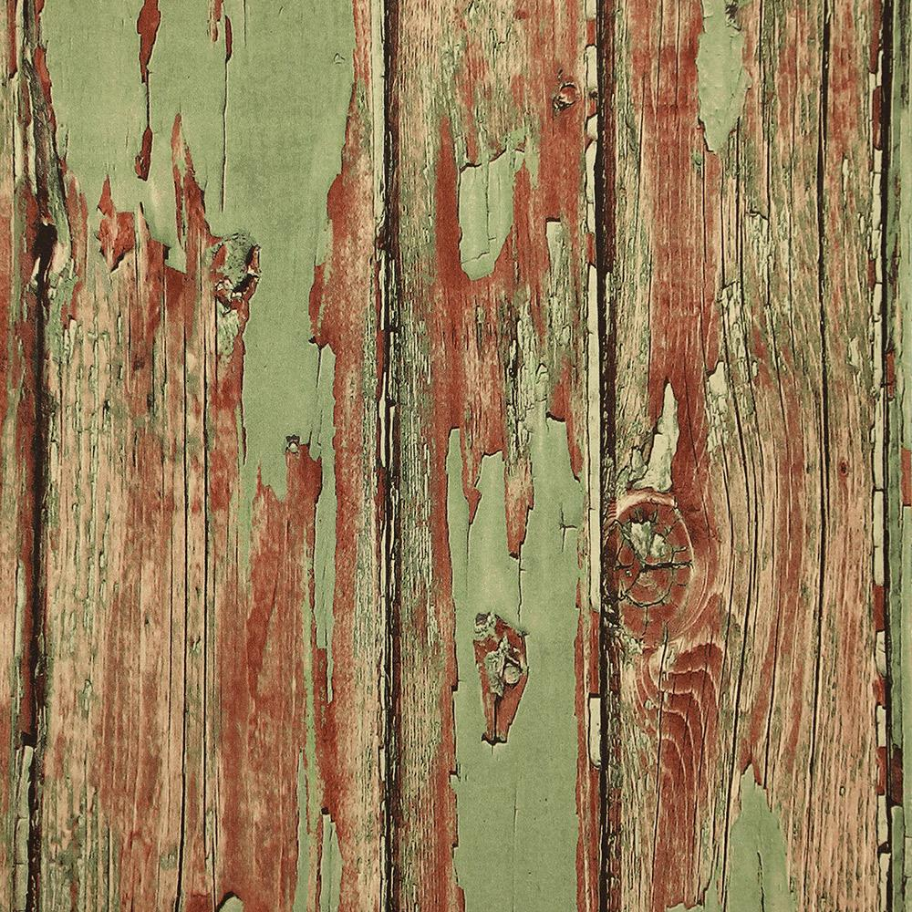 Rustic Planks Wallpaper in Sage from the Precious Elements Collection by Burke Decor