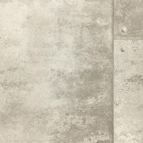 Rusty Panel Wallpaper in Grey from the Precious Elements Collection by Burke Decor