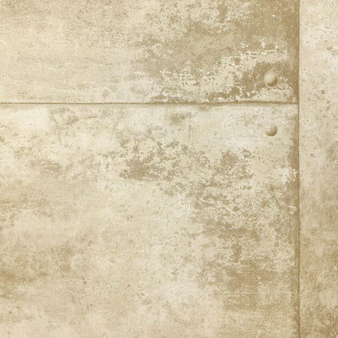 Rusty Panel Wallpaper in Soft Gold from the Precious Elements Collection by Burke Decor