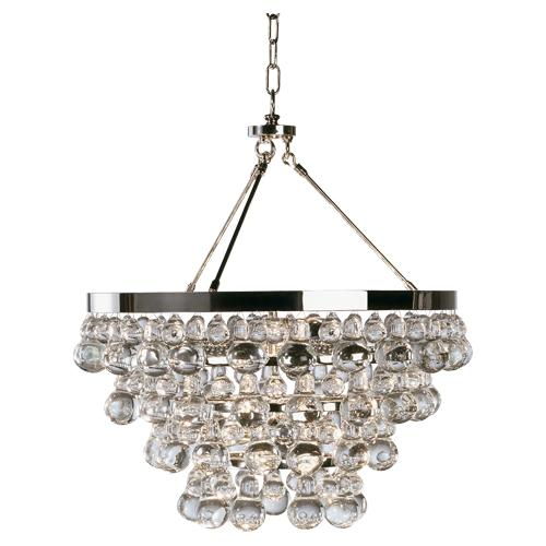 Bling Chandelier with Convertible Double Canopy by Robert Abbey